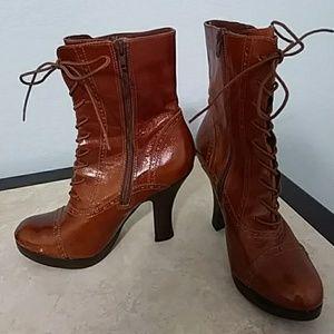 Steve Madden Cognac Platform Boots